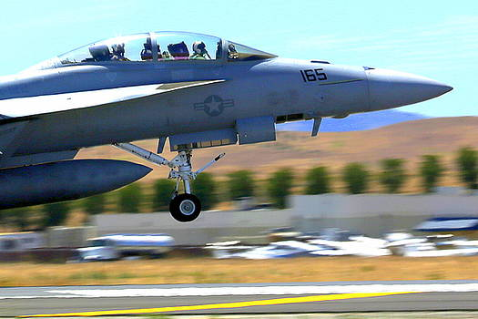 John King - F/A 18 Hornet Departs Hollister Air Show