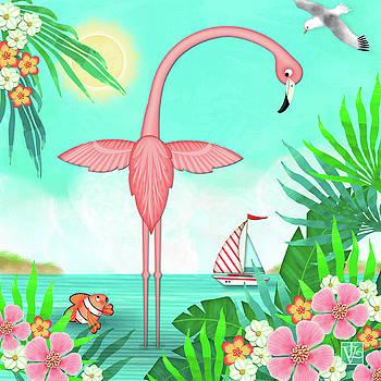 F is for Flamingo by Valerie Drake Lesiak