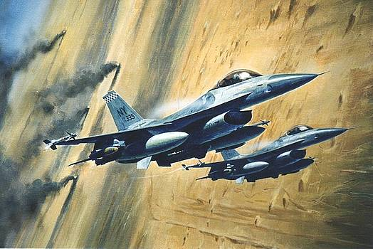 'F16 Desert Storm' by Colin Parker