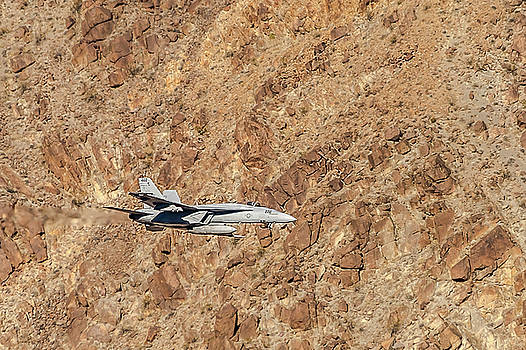 F18 Level Flight In Star Wars Canyon by Bill Gallagher