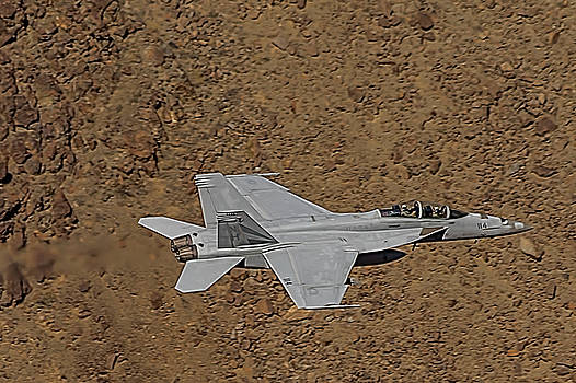 F18 Lightning In Star Wars Canyon by Bill Gallagher