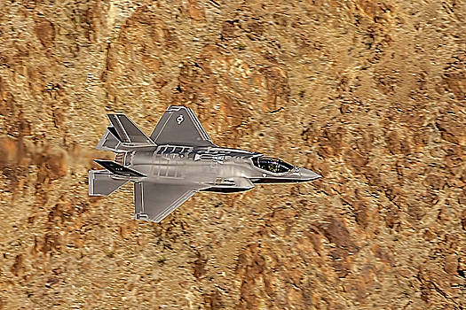 F35 Lightning From Above At The Jedi Transition by Bill Gallagher