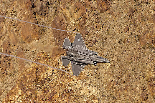 F35 Lightning Vertical In The Valley by Bill Gallagher