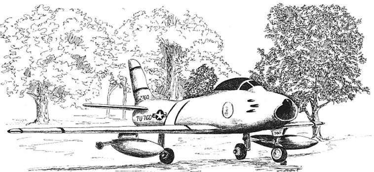 F86 Sabre Jet by Barney Hedrick