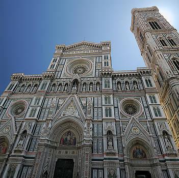 Reimar Gaertner - Facade of Florence Duomo Santa Maria del Fiori with bell tower o