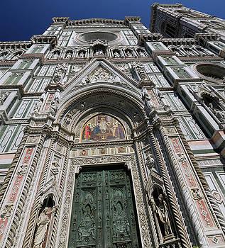 Reimar Gaertner - Facade of the Duomo Santa Maria del Fiori with Campanile in Flor