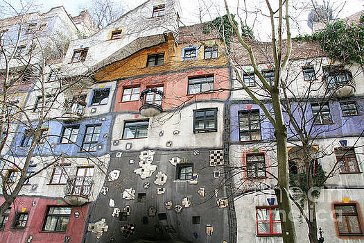 Facade of the Hundertwasserhaus, Vienna, Austria by Jacky Telem