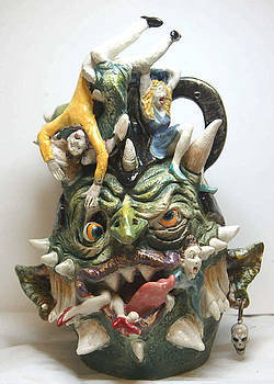 Face Jug People Eater by Lauren  Marems