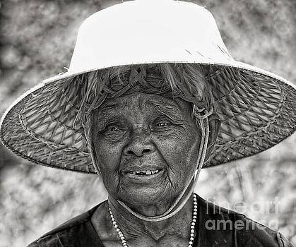 Face Of Rural Thailand b/w by Ian Gledhill