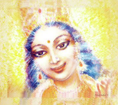 Face Of The Goddess - Lalitha Devi - light by Ananda Vdovic