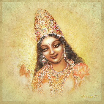 Face of the Goddess - Lalitha Devi - without frame by Ananda Vdovic