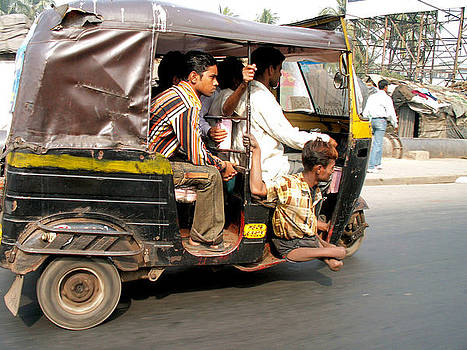 Faces of India - Auto Rickshaw Riders by Steve Rudolph