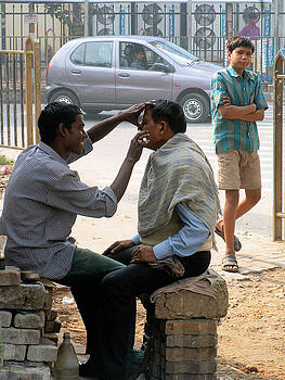 Faces of India - Morning Shave by Steve Rudolph