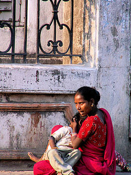 Faces of India - Mother and Child by Steve Rudolph
