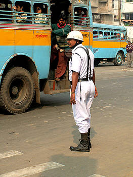 Faces of India - Traffic Cop by Steve Rudolph