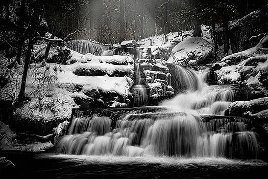 Factory Falls In Winter by Chris Lord
