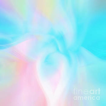 Faded Cyan Abstract by Phill Petrovic