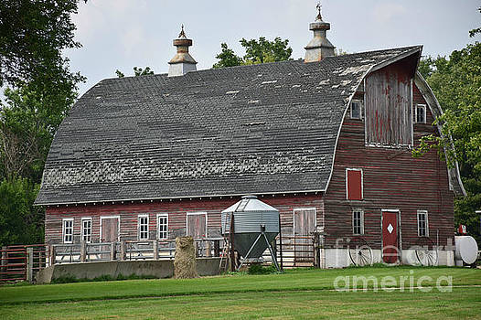 Faded Red Barn by Kathy M Krause