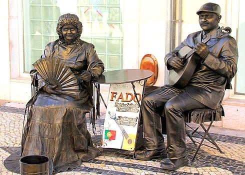 Fado Mimes in Lisbon by Laurel Talabere