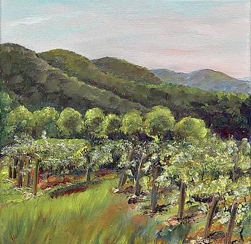 Fainting Goat Valley - Vineyards -  Jasper, GA by Jan Dappen
