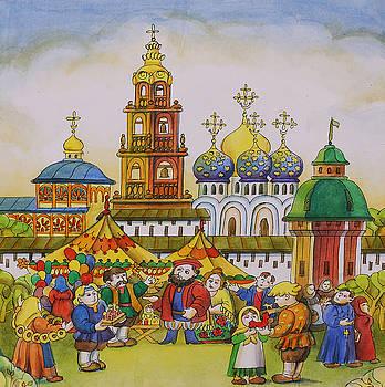 fair in Sergiyev to Posada by Khromykh Natalia