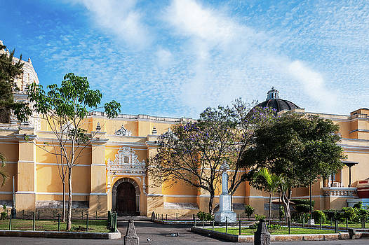 Fair weather in Antigua highlighting the beauty of La Merced Church by Daniela Constantinescu