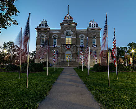 Art Whitton - Fairbury Nebraska Avenue of Flags - September 11 2016