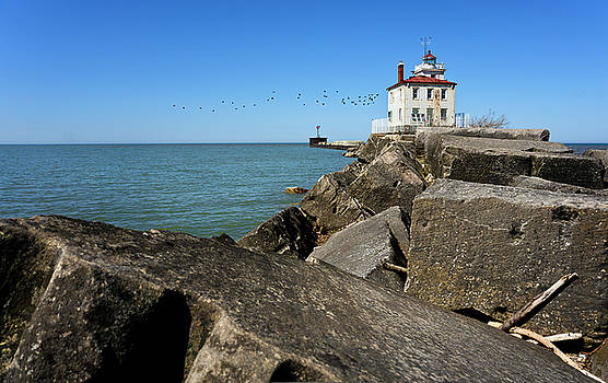 Fairport Harbor Lighthouse by Laurence Nozik