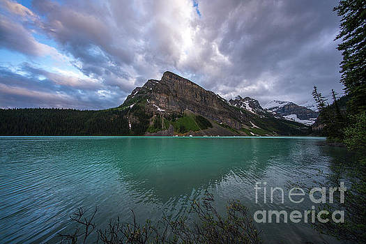 Fairview Mountain and Lake Louise by Mike Reid