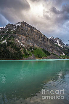 Fairview Mountain and the Aqua Waters of Lake Louise by Mike Reid