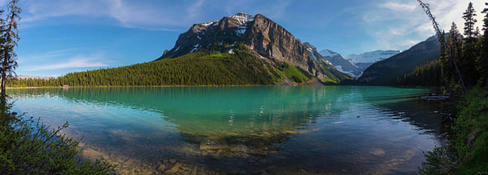 Fairview Mountain on Lake Louise by Owen Weber