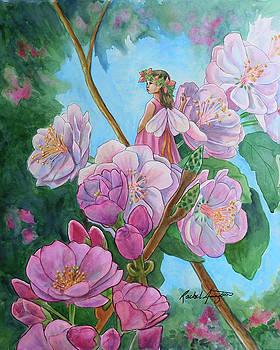 Fairy Amongst Cherry Blossoms by Rachel Armington