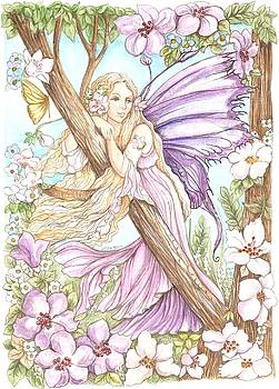 Fairy In The Flowers by Morgan Fitzsimons
