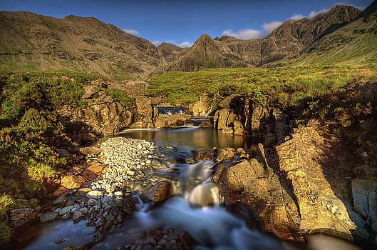 Fairy Pools waterfalls by Swen Stroop