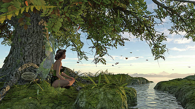 Jayne Wilson - Fairy Under the Tree of Life