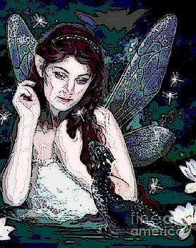 Fairy with Dragon by Valarie Pacheco