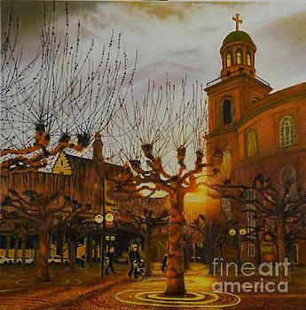 Faith on a Frankfurt Afternoon by Mitzisan Art LLC