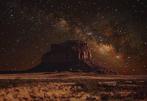 Fajada Butte at Chaco Canyon by Richard Estrada