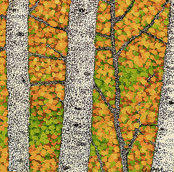 Fall Birch 2 by Valerie Romano