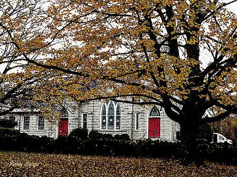 Fall At Church by Randy Sylvia