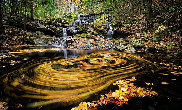 Fall at Garwin Falls by Robert Clifford