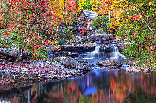Mary Almond - Fall at Glade Creek Grist Mill