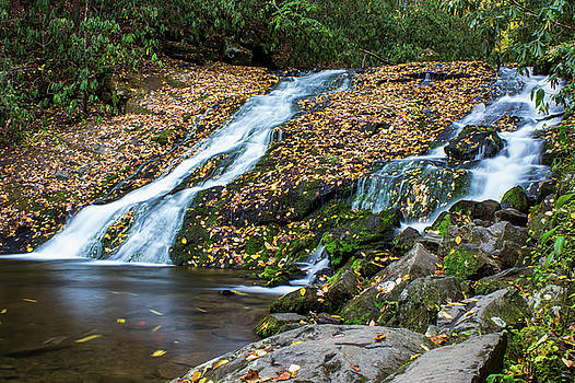 Fall at Indian Creek Falls by Blue Ridge Mountain Life