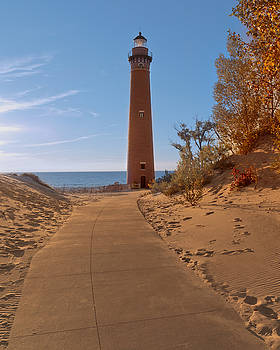 Susan Rissi Tregoning - Fall at Little Point Sable Light
