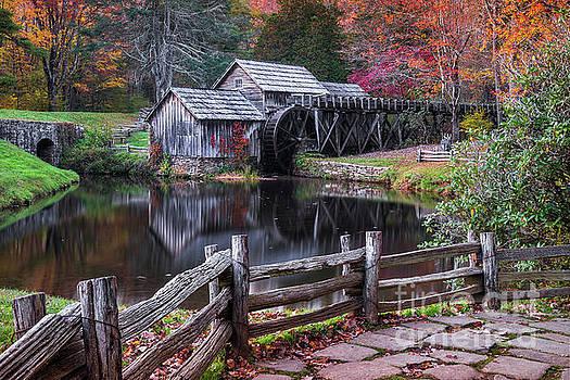 Fall at Mabry Mill by Anthony Heflin