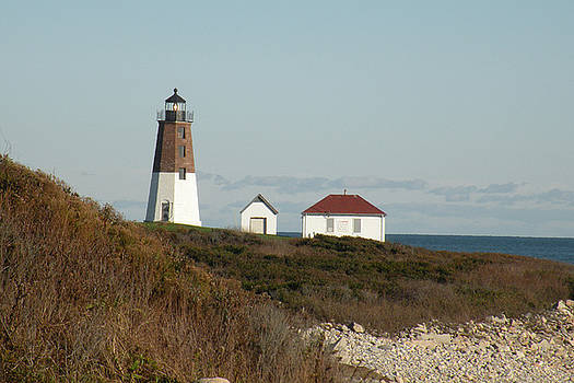 Fall at Point Judith Light by Donald Cameron