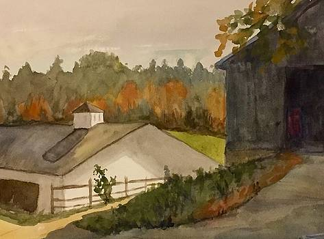 Fall at the Barn by Peggy Poppe