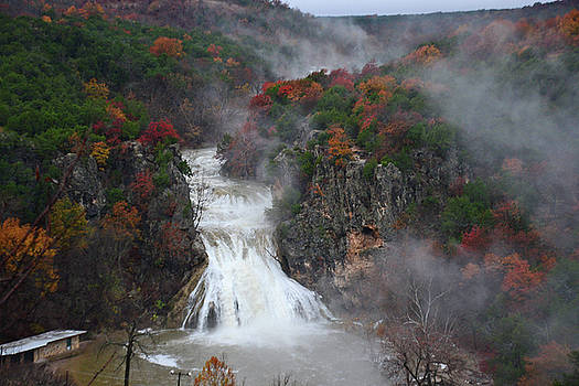 Fall at Turner Falls by Vonda Barnett