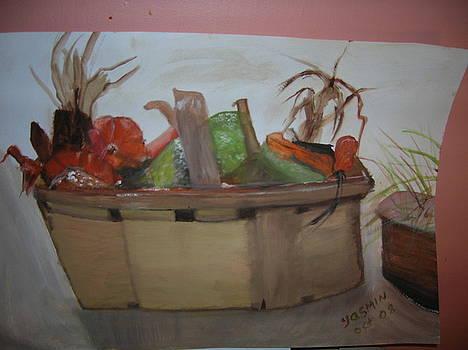 Fall Basket by Zeenath Diyanidh