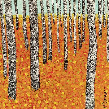 Fall Birch 3 by Valerie Romano